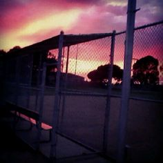 Harbor city park dugout. Beautiful sunset #FavoritePlaceToBe.