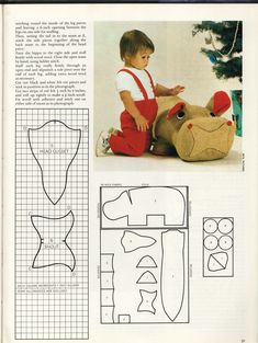 vintage toy patterns :: HippoPattern2.png image by drawpilgrim - Photobucket