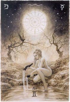 The Labyrinth Tarot - Luis Royo Fantasy - Temperence