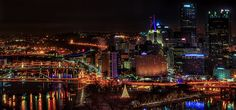 8. Christmastime brings an even brighter, more colorful hue to the Steel City.