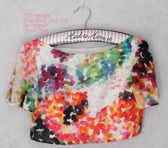 Close fitting crop top -Womans blouse Multi-size UK size 10 - 18 (US 6 - Easy Sewing Prints or Letter. Holiday Blouses, Easy Sewing Patterns, Crop Blouse, Woven Fabric, Blouses For Women, High Waisted Skirt, Size 10, Crop Tops, Top Boat