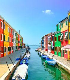Burano, a little island near Venice, Italy