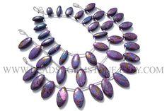 AAA Supper Quality Smooth Marquise Beads In Purple Copper #purplecopperturquoise #purplecopperturquoisebeads #purplecopperturquoisebead #purplecopperturquoisemarquise #marquisebeads #beadswholesaler #semipreciousstone #gemstonebeads #beadsogemstone #beadwork #beadstore #bead