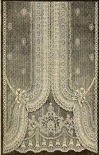 Vintage Curtains   Vintage Ephemera: Nottingham Lace Curtain, 1912