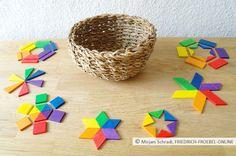 Spielgaben Spielgabe 7 Legespiel geometrische Formen nach Fröbel