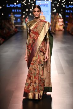 Gallery | Gaurang Kalamkari Saree, Silk Sarees, Kalamkari Fabric, Saris, Indian Wedding Outfits, Indian Outfits, Saree Blouse Neck Designs, Blouse Designs, Kalamkari Designs