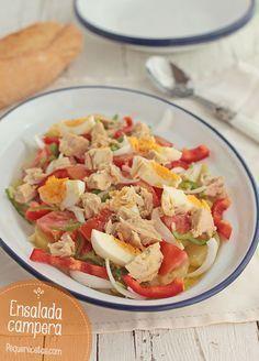 Ensalada campera, una saludable receta de verano , La ensalada campera es una receta fácil y rápida Prepara recetas de verano saludables y ricas para toda la familia. No te pierdas esta sabrosa ensalada.