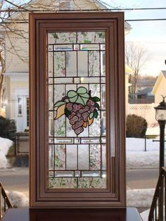 Vine In Bloom Kitchen Cabinet Door Delphi Stained Gl Cabinets