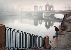 Bridge of Lomonosov, St. Petersburg, Russia