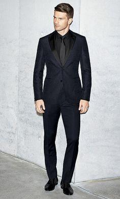 Chemise noire pantalon noir et blouson en cuir noir boss men style pinterest patron et - Costume noir chemise noir ...
