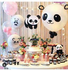 Panda Party, Panda Themed Party, Panda Birthday Party, Bear Party, Baby Birthday, Birthday Parties, Birthday Ideas, Panda Decorations, Panda Baby Showers