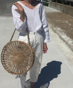 "1,001 Likes, 7 Comments - Na Nin Vintage (@naninvintage) on Instagram: ""Vintage flax 100% linen stunning white blouse. Size s-xl. $56 + shipping. 