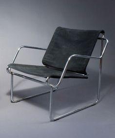 Yrjo Kukkapuro; Chromed Steel 'Pressu' Chair for Haimi, c1965.