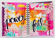 Very bright and jazzy journal pages by Zorrotte