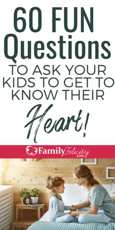 Kids Discover 60 Fun Questions to Ask Your Kids to Get Them to Open Up and Share Their Heart These fun questions to ask kids will get your children talking and sharing with you! Get closer with your kids through these questions. Gentle Parenting, Kids And Parenting, Parenting Hacks, Parenting Classes, Parenting Quotes, Peaceful Parenting, Parenting Styles, Parenting Ideas, Parenting Articles