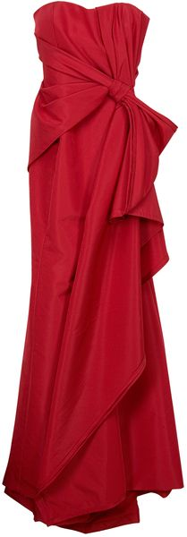 Carolina Herrera Strapless Gown in Red