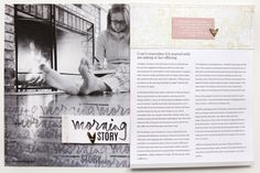 Morning Story by Ali Edwards using the AM/PM Story Kit™ and Story Stamp™