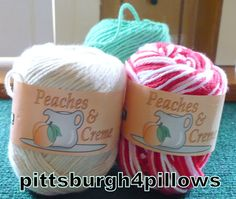 3  Peaches & Cream Cotton Yarn  Assorted by pittsburgh4pillows
