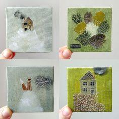 tiny cute paintings
