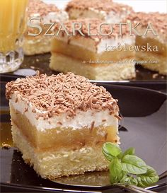szarlotka królewska Delicious Cake Recipes, Yummy Cakes, Dessert Recipes, Yummy Food, Lemon Cheesecake Recipes, Chocolate Cheesecake Recipes, Polish Desserts, Polish Recipes, Kolaci I Torte
