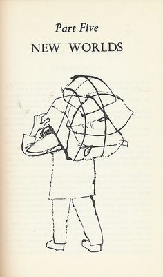 """A Ben Shahn drawing illustrating """"A Treasury of Yiddish Stories,"""" edited by Irving Howe and Eliezer Greenberg. Published in 1958 by Meridian Books."""