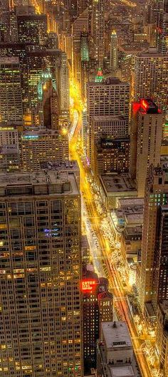Chicago - To me cities can be beautiful....especially when they are lit up!