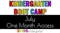 july access to kindergarten bootcamp