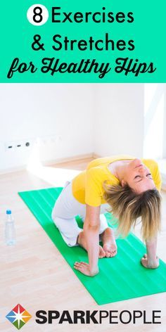 Have tight hip flexors? Most people that sit at a desk most of the day do and they need to be stretched. Add these 8 stretches and exercises to your workout routine to improve the health of your hips!