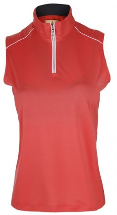 Camelia Rose Sport Haley Ladies Roxanne Sleeveless Golf Polo Shirt! More golf outfits at #lorisgolfshoppe