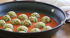 These vegetarian Zucchini Meatballs are delicious! Made with grated zucchini, Pecorino Romano, basil, bread crumbs and egg with a pomodoro sauce. Veggie Recipes, Vegetarian Recipes, Dinner Recipes, Cooking Recipes, Healthy Recipes, Raw Recipes, Zucchini Meatballs, Meatless Meatballs, Eggplant Meatballs