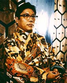Chögyam Trungpa Rinpoche (February 28, 1939 – April 4, 1987) was a Buddhist meditation master and holder of both the Kagyu and Nyingma lineages, the eleventh Trungpa tülku, a tertön, supreme abbot of the Surmang monasteries, scholar, teacher, poet, artist, and originator of a radical re-presentation of Shambhala vision.