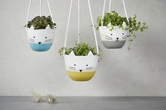 Hanging planter Ceramic plant hanger succulent pot