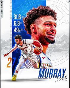 """✖️Carson Reichert✖️ on Instagram: """"Jamal.......Murray.psd @jmglitxh27 + + This man has been absolutely insane in the first round averaging 30+ points 6.9 assist while…"""" Mvp Basketball, Basketball Posters, Soccer Poster, Basketball Design, Football, Nba Background, Psg, Nba Video, Cristiano Ronaldo"""