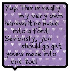 Make your own handwriting into a font!