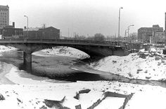 The Flint River in winter, photo taken sometime in late 1976 or early 1977.