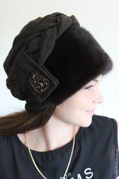 """Купить """" Боярыня коричневая"""" Меховая шапка. (2 варианта) - меховая шапка, теплая шапка"""