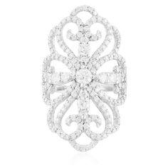14K White Gold 2.45ct Diamond Ring - Shyne Jewelers