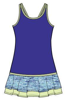 Garb Junior Girls Golf/Tennis Outfits (Shirt & Skort) - Purple ...