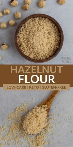 Making delicious, low-carb baked goods doesn't have to be difficult. This is especially true with options like hazelnut flour! Almond Flour Biscuits, Coconut Flour Cookies, Sugar Free Recipes, Sweet Recipes, Baking Recipes, Low Carb Desserts, Low Carb Recipes, Ketogenic Recipes, Keto Cupcakes