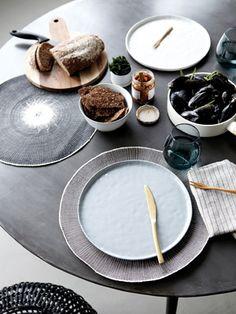 Assiette en c�ramique pommel�e (3 couleurs) House Doctor