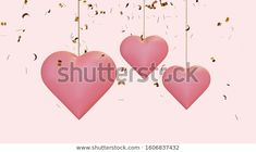 Find Hanging Pink Hearts Flying Golden Confetti stock images in HD and millions of other royalty-free stock photos, illustrations and vectors in the Shutterstock collection.