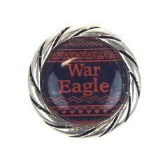 Auburn Tigers Snap Charms War Eagle
