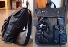 John Varvatos leather backpack $550 from Gotstyle Menswear.