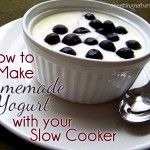 Homemade Slow Cooker Yogurt: Fall in Love with Your Slow Cooker Week