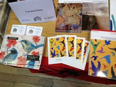 Carcanet's stall at the 2014 Free Verse Poetry Book Fair in London