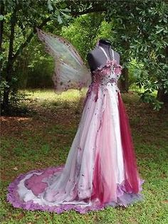Fairy clothes    spirits-of-lavender:    Pink and white beaded fairy gown.