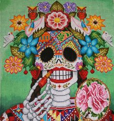 day of the dead art | canvases adapted by Tapestry Fair with original Day of the Dead art ...