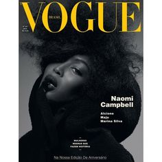 To celebrate supermodel Naomi Campbell we are looking back at all the numerous Vogue covers she has ever had. Naomi Campbell is the model with the most Vogue Vogue Magazine Covers, Fashion Magazine Cover, Fashion Cover, Naomi Campbell, High Fashion Photography, Editorial Photography, Lifestyle Photography, Glamour Photography, Photography Books