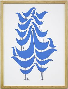 """flock"" by wayne pate screenprint"