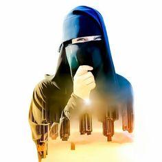 Hijab Niqab, Hijab Chic, Hijabi Girl, Girl Hijab, Afghani Clothes, Hijab Dpz, Niqab Fashion, Hijab Cartoon, Muslim Beauty